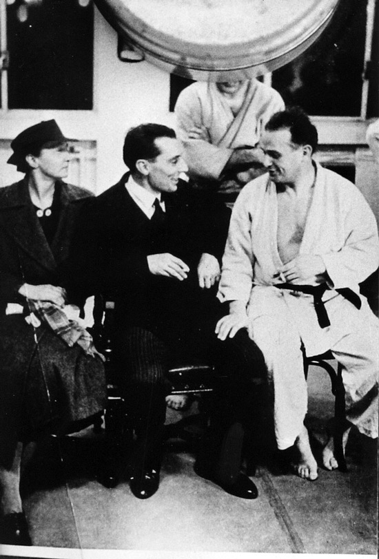 Marie Curie and Jigoro Kano with Moshé Feldenkrais when he received his Black Belt in Judo