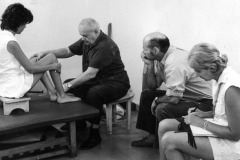 Dr. Feldenkrais with Clients