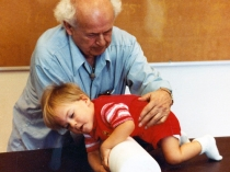Dr. Feldenkrais works with a child