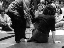 Dr. Feldenkrais does a movement demonstration with Anat Baniel