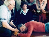 Moshe Feldenkrais with Anat Baniel at San Franciso Training