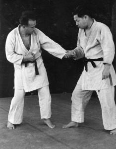 Moshe Feldenkrais in judo training