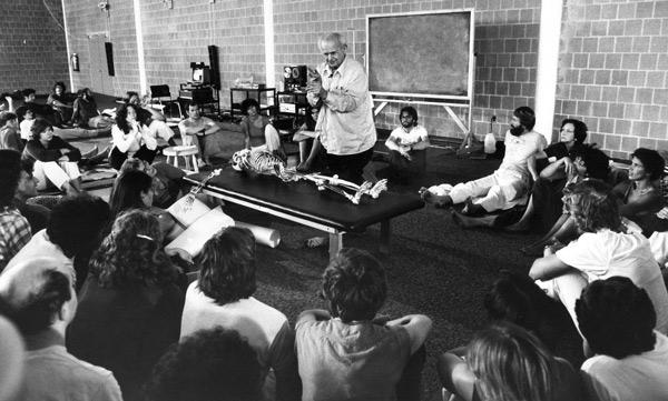Moshe Feldenkrais teaching