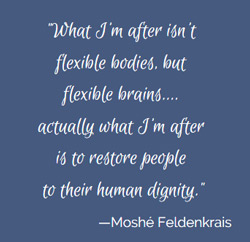 Moshé Feldenkrais Quote: What I'm after is flexible brains.