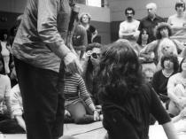 Moshé Feldenkrais demonstrates on Anat Baniel in Dr. Feldenkrais training